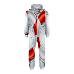 Spare Tire Icon Vector Hooded Jumpsuit (kids)