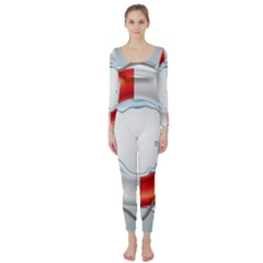 Spare Tire Icon Vector Long Sleeve Catsuit