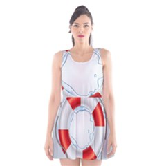 Spare Tire Icon Vector Scoop Neck Skater Dress