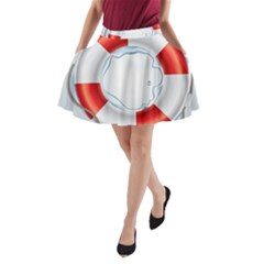 Spare Tire Icon Vector A Line Pocket Skirt