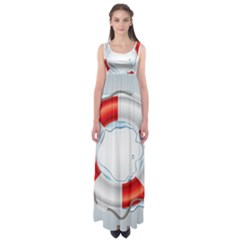Spare Tire Icon Vector Empire Waist Maxi Dress