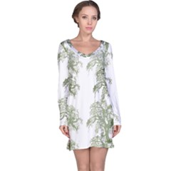 Trees Tile Horizonal Long Sleeve Nightdress