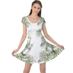 Trees Tile Horizonal Cap Sleeve Dress