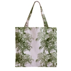 Trees Tile Horizonal Zipper Grocery Tote Bag