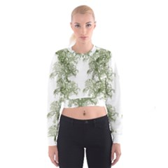 Trees Tile Horizonal Cropped Sweatshirt