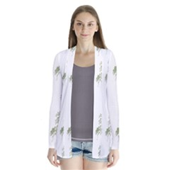 Trees Tile Horizonal Drape Collar Cardigan