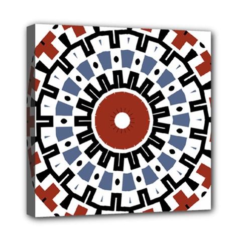 Mandala Art Ornament Pattern Mini Canvas 8  X 8