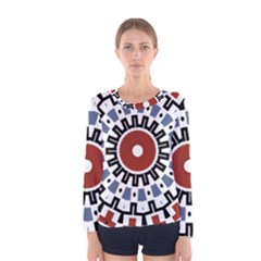 Mandala Art Ornament Pattern Women s Long Sleeve Tee