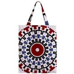 Mandala Art Ornament Pattern Zipper Classic Tote Bag