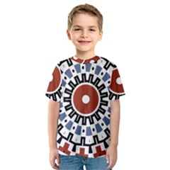 Mandala Art Ornament Pattern Kids  Sport Mesh Tee