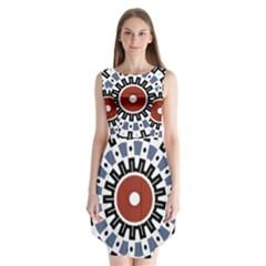 Mandala Art Ornament Pattern Sleeveless Chiffon Dress