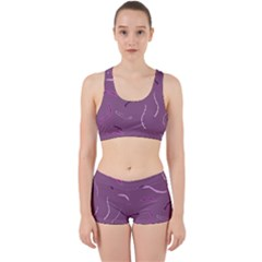Plumelet Pen Ethnic Elegant Hippie Work It Out Sports Bra Set