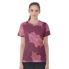 Plumelet Pen Ethnic Elegant Hippie Women s Cotton Tee