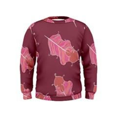 Plumelet Pen Ethnic Elegant Hippie Kids  Sweatshirt