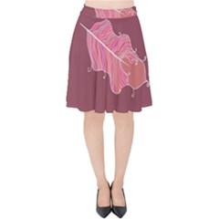 Plumelet Pen Ethnic Elegant Hippie Velvet High Waist Skirt