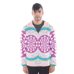 Mandala Design Arts Indian Hooded Wind Breaker (men)