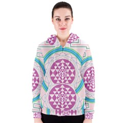 Mandala Design Arts Indian Women s Zipper Hoodie