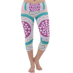 Mandala Design Arts Indian Capri Yoga Leggings