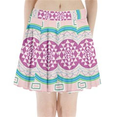 Mandala Design Arts Indian Pleated Mini Skirt