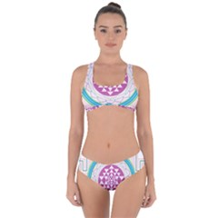 Mandala Design Arts Indian Criss Cross Bikini Set