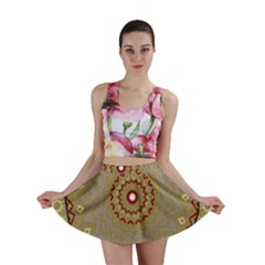Mandala Art Ornament Pattern Mini Skirt