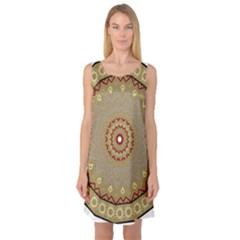 Mandala Art Ornament Pattern Sleeveless Satin Nightdress