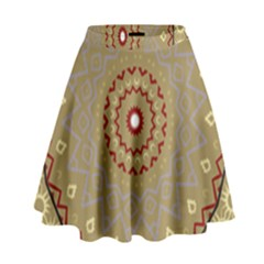 Mandala Art Ornament Pattern High Waist Skirt