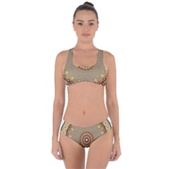 Mandala Art Ornament Pattern Criss Cross Bikini Set