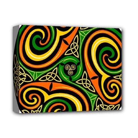 Celtic Celts Circle Color Colors Deluxe Canvas 14  X 11