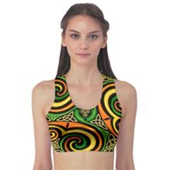 Celtic Celts Circle Color Colors Sports Bra
