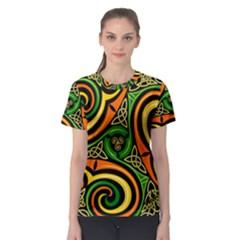 Celtic Celts Circle Color Colors Women s Sport Mesh Tee