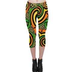 Celtic Celts Circle Color Colors Capri Leggings