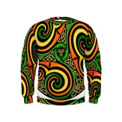 Celtic Celts Circle Color Colors Kids  Sweatshirt