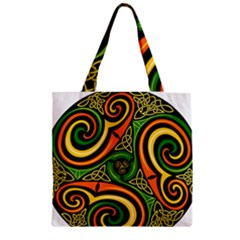 Celtic Celts Circle Color Colors Zipper Grocery Tote Bag