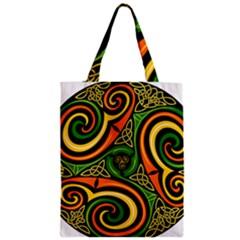 Celtic Celts Circle Color Colors Zipper Classic Tote Bag