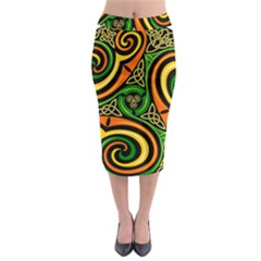 Celtic Celts Circle Color Colors Midi Pencil Skirt