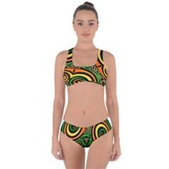 Celtic Celts Circle Color Colors Criss Cross Bikini Set