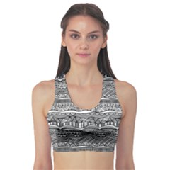 Ethno Seamless Pattern Sports Bra