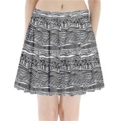 Ethno Seamless Pattern Pleated Mini Skirt