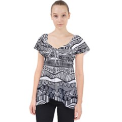 Ethno Seamless Pattern Dolly Top
