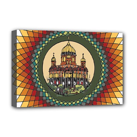 Building Mandala Palace Deluxe Canvas 18  X 12