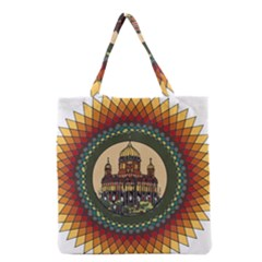 Building Mandala Palace Grocery Tote Bag