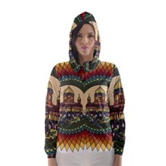 Building Mandala Palace Hooded Wind Breaker (women)