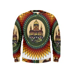 Building Mandala Palace Kids  Sweatshirt