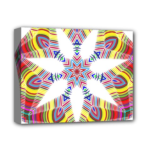 Colorful Chromatic Psychedelic Deluxe Canvas 14  X 11