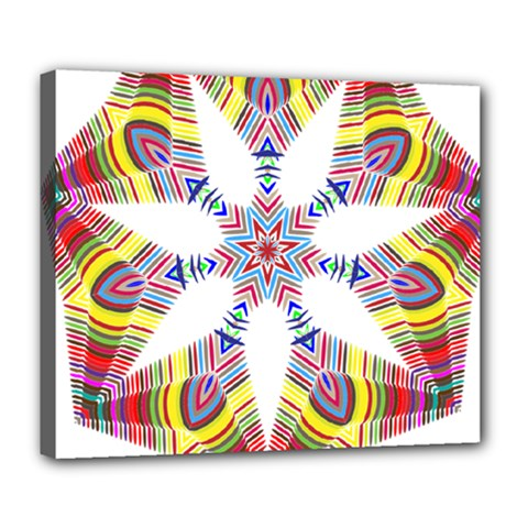 Colorful Chromatic Psychedelic Deluxe Canvas 24  X 20
