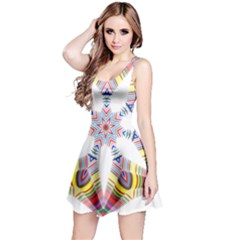 Colorful Chromatic Psychedelic Reversible Sleeveless Dress