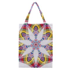 Colorful Chromatic Psychedelic Classic Tote Bag