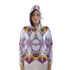 Colorful Chromatic Psychedelic Hooded Wind Breaker (women)