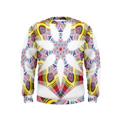 Colorful Chromatic Psychedelic Kids  Sweatshirt